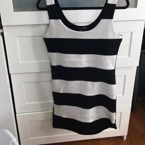 Striped body con tank dress